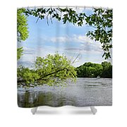 My Place By The River Shower Curtain