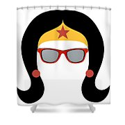 My Red Glasses Shower Curtain