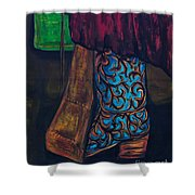 My Ride Home After The Dance Shower Curtain by Frances Marino