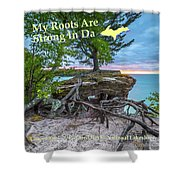 My Roots Are Strong Chapel Rock -6121 Pictured Rocks Michuigan Shower Curtain