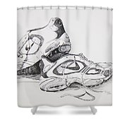 My Running Shoes Shower Curtain