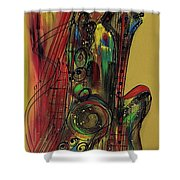My Sax My Way Shower Curtain