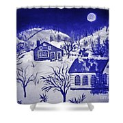 My Take On Grandma Moses Art Shower Curtain