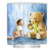 My Teddy And Me 03 Shower Curtain
