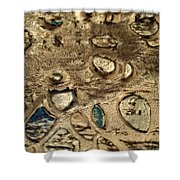 My Textured Stones B Shower Curtain by Sonya Wilson