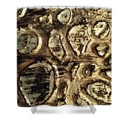 My Textured Stones F Shower Curtain by Sonya Wilson