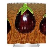 My Three Eggplant Fruits Shower Curtain