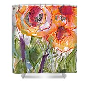 My Wild Roses Shower Curtain