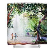 Myanmar Custom_011 Shower Curtain