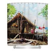 Myanmar Custom_016 Shower Curtain