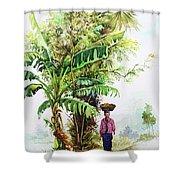 Myanmar Custom_05 Shower Curtain