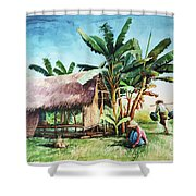 Myanmar Custom_09 Shower Curtain