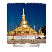 Myanmar Temple Shower Curtain