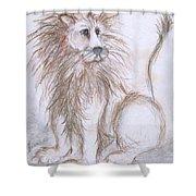 Mya's Lion Shower Curtain