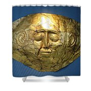 Mycenaean Gold Mask Shower Curtain