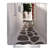 Mykonos Alley Shower Curtain