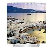 Mykonos Greece Shower Curtain