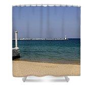 Mykonos Lookout Shower Curtain