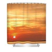 Mykonos Sunset Shower Curtain