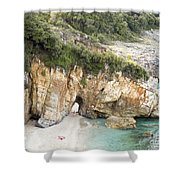 Mylopotamos Beach, Pelion, Greece Shower Curtain
