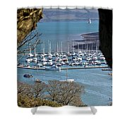 Mylor Marina Shower Curtain