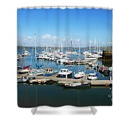 Mylor Marina Cornwall Shower Curtain