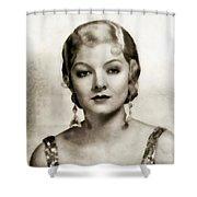Myrna Loy, Vintage Actress Shower Curtain