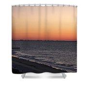 Myrtle Beach Pier Shower Curtain