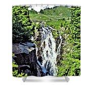 Myrtle Falls And Mount Rainier Shower Curtain