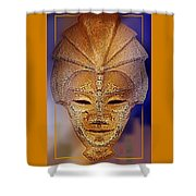 Mysterious Ancient  Asian Mask Shower Curtain