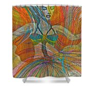 Mysterious Dancer Shower Curtain