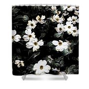 Mysterious Floral Shower Curtain