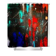 Mysterious Inferno  Shower Curtain