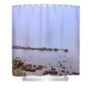 Mysterious Jordan Pond Shower Curtain