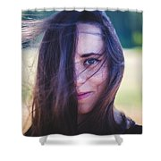 Mysterious Look Shower Curtain