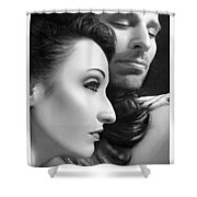 Mysterious Love  Shower Curtain