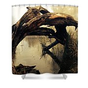 Mysterious Marsh Shower Curtain