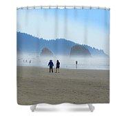 Mysterious Morn On Cannon Beach Shower Curtain