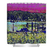 Mystery Bay At Sunset Shower Curtain