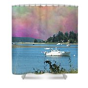 Mystery Bay Shower Curtain