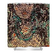 Mystery Girl Shower Curtain