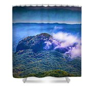 Mystery Of Looking Glass Rock Shower Curtain