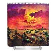 Mystery Of The Desert Shower Curtain