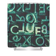 Mystery Writer Clue Shower Curtain