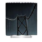Mystic Bridge Shower Curtain