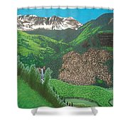 Mystic Falls On Lake Fork San Miguel River Shower Curtain