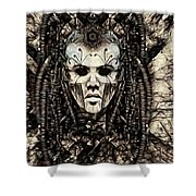 Mystic Future And Past - Ion Prophecies - Monotone  Shower Curtain