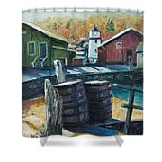 Mystic Harbor Shower Curtain