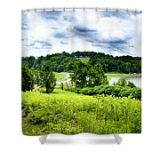 Mystic Hillside Shower Curtain