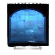 Mystic Moonrise Shower Curtain
